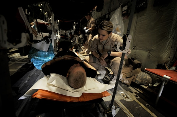 Flying Hospital Staff Gives Wounded Fighting Chance